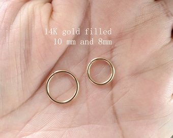 16 gauge Gold Nose Ring Hoop.