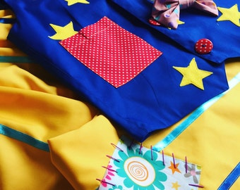 Mr. Tumble/clown outfit/made to order/adult size