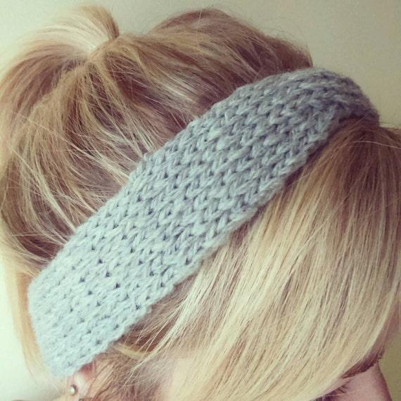 Twist Headband Knitting Pattern : Hand knit chunky twist headband