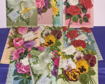 Floral Rembrance All Occasion Greeting Cards, Vintage Cards, Birthday Cards, Get Well Cards, Friendship Cards