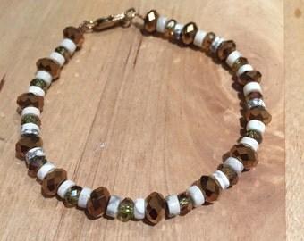 Nice bracelet, glass beads, Howlit
