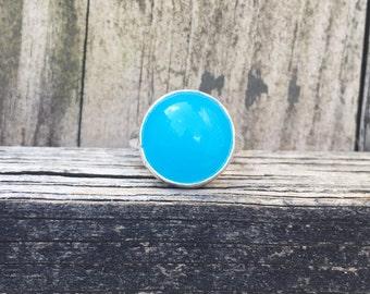 Blue Chalcedony Ring - Chalcedony Ring - Statement Ring - Blue Ring - Sterling Silver Ring - Blue Jewelry - Chalcedony - Gemstone Ring