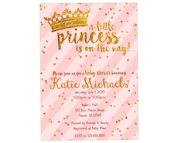 Printable little princess baby shower invitations in vintage pink il570xn filmwisefo