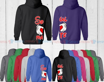 Soul Mate - Matching Couple Hoodie - His and Her Hoodies - Love Sweaters