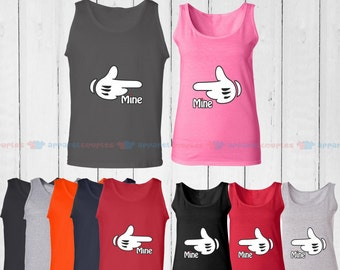 This is Mine - Matching Couple Tank Top - His and Her Tank Tops - Love Tank Tops