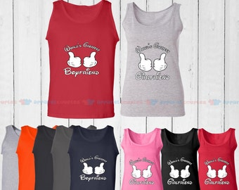 World's Greatest Boyfriend & World's Greatest Girlfriend - Matching Couple Tank Top - His and Her Tank Tops - Love Tank Tops