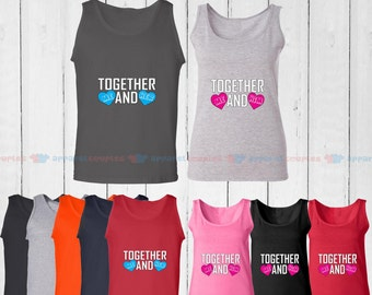 Together Me and Her & Together Me and His - Matching Couple Tank Top - His and Her Tank Tops - Love Tank Tops