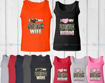I Love My Redneck Wife & I Love My Redneck Husband - Matching Couple Tank Top - His and Her Tank Tops - Love Tank Tops