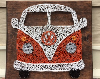 VW Bus String Art