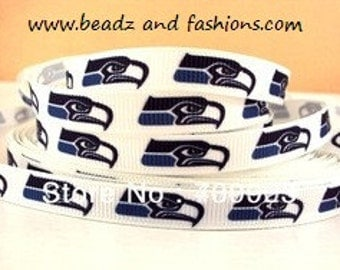seattle seahawks 3/8 grosgrain ribbon 9mm sport football