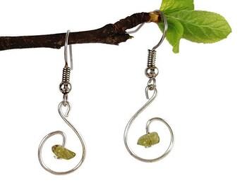 Peridot earring jewelry natural peridot jewelry natural gemstone earring natural gemstone jewel handmade earring healing crystal stone aywin