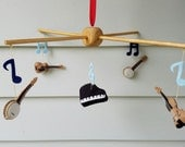 customizable music baby mobile, Music Nursery Decor
