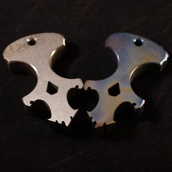 SALE Titanium Skully Dagger/Bottle Opener