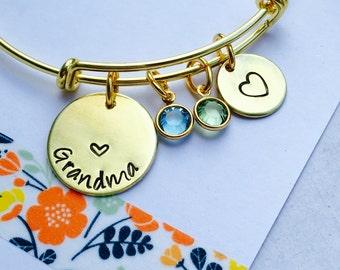 Grandma Bracelet, Personalized Grandma Bracelet, Adjustable Bangle Bracelet, Gold Mimi Bracelet, Grandma Bracelet Family   Bracelet,