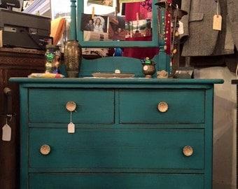 Antique Oak Dresser Turned Boho Chic