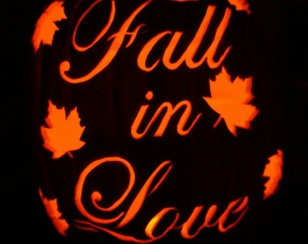 "12"" ""Fall in Love"" Wedding Pumpkin"
