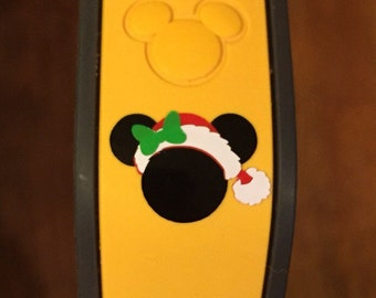 Christmas Minnie Magic Band Vinyl Decal