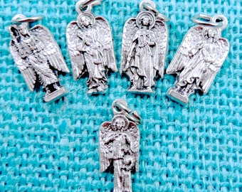 Wholesale 5 Sets 25 Medals Archangel Protection Medals Healing Medals Archangel Medals Michael Uriel Gabriel Raphael Guardian Angel Medals