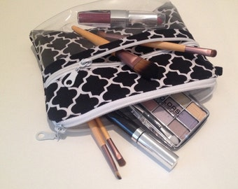 See through makeup bag
