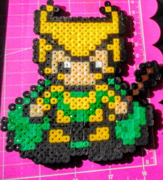 Perler Bead Loki Sprite Magnet