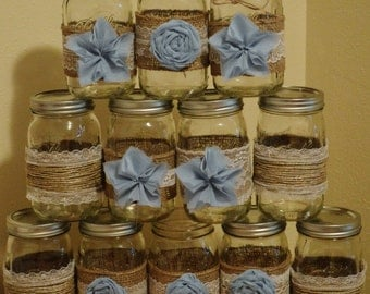 Baby Boy Shower Decorations, Rustic Wedding, Wedding Centerpieces, Rustic Baby Shower, JARS NOT INCLUDED, Baby Shower