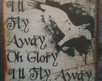 I'll Fly Away...Hymn - Canvas Transfer - FREE shipping in the US