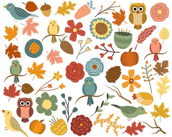 Autumn Woodland Clipart Fall Clipart Autumn Clip Art