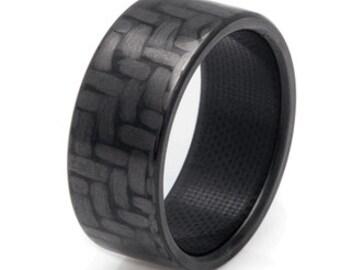 Polished Carbon Fiber Ring