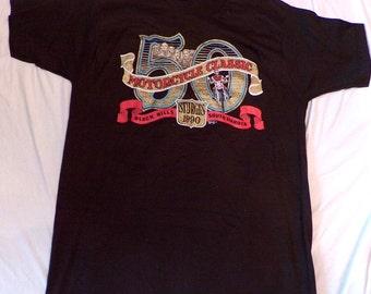 Sturgis 1990 Motorcycle Classic Black Hills South Dakota Souvenir T-Shirt XL Great Vintage Find