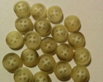 20 Mini Tan Buttons - #R-00055