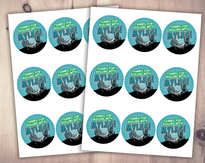 Amusement Park party, stickers  / party favor label /  super hero birthday, rollercoaster, table sign, cupcake toppers
