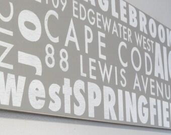 CUSTOM Subway Word Art 36 inch by 12 inch