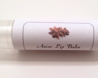 Anise Lip Balm, Natural Lip Balm, Vegan Lip Balm
