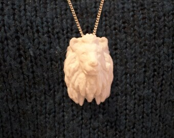 3D Printed - Lion Head Necklace