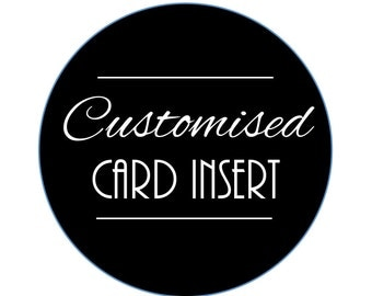 Add-On: Customized Card Insert
