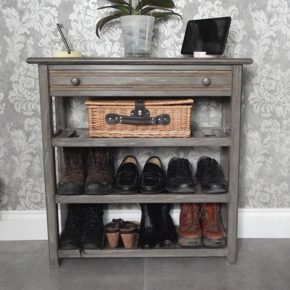 console table with drawer and 3 shelves console table. Black Bedroom Furniture Sets. Home Design Ideas