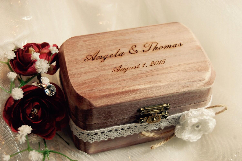 FAST SHIPPING Rustic Ring Bearer Box Wedding