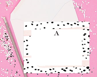 Personalized Stationery // Personalized stationary // Monogram stationery // monogram note cards // personalized monogram stationary