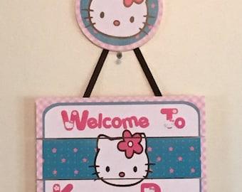 Hello Kitty Birthday Door Sign