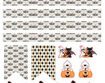Halloween or Christmas deco stickers