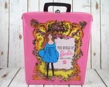 Vintage Pink Barbie Doll Case 1968 ~ Mattel ~ The World Of Barbie ~ Barbie Accessories ~ Retro Collectible