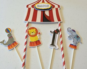 Cake Topper or Table decoration Circus Custom design.