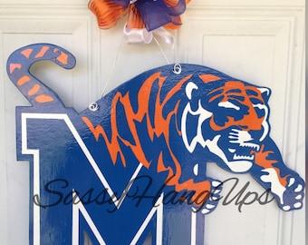 University of Memphis Basketball, University of Memphis Football, University of Memphis, Memphis Tigers, Door Hanger, Memphis Door Hanger