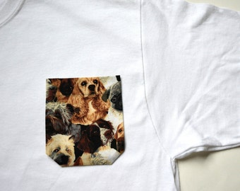 Dog pocket tee, pocket tee, monogram pocket tee, pocket t-shirt