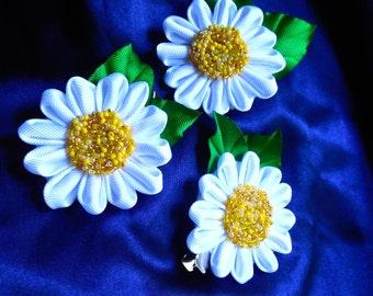 Daysi flower,  Kanzashi style