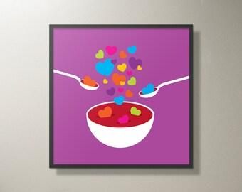 """Heart Soup Print - 18"""" x 18"""""""