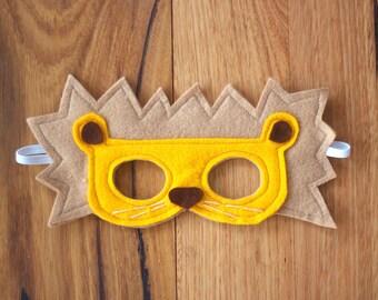 Lion Mask / Costume - Felt Animal Mask
