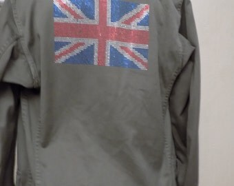 Military pattern cotton canvas jacket