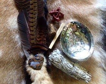 Ceremonial Feather Smudge Fan Kit