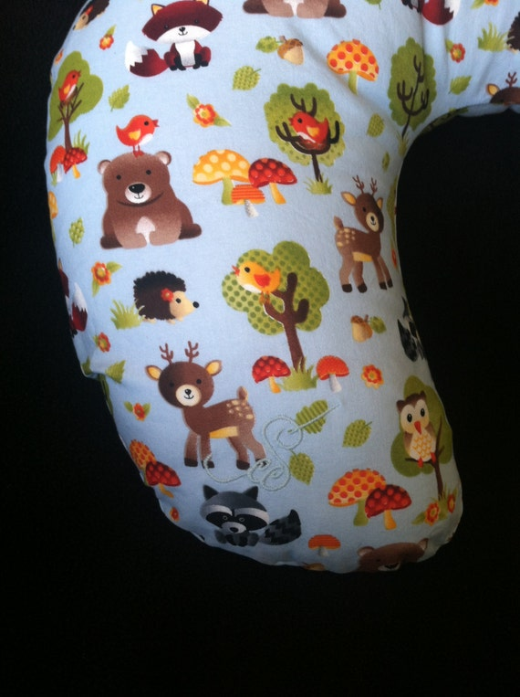 Animal Nursing Pillow : Forest Animals Nursing Pillow Cover Boppy by CaseysConcoctions